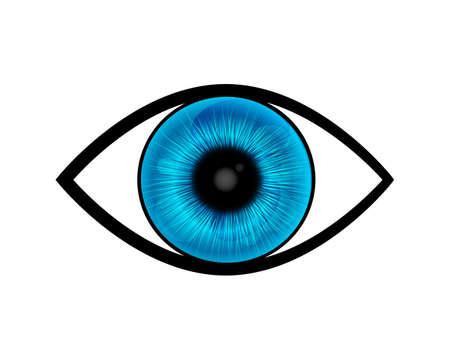 ojo azul: azul vector del ojo
