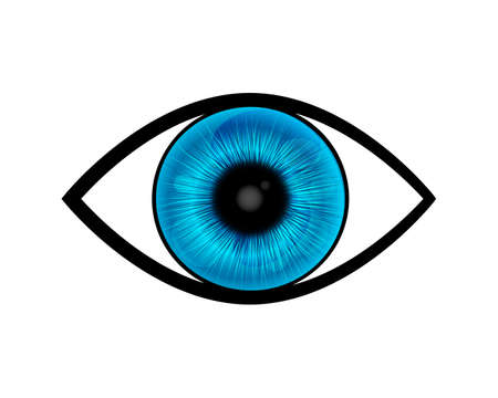blue eye: blue eye vector Illustration