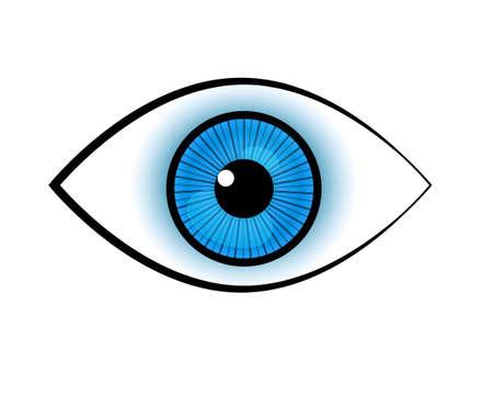 ojo azul: vector azul ojo