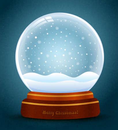 snow globe verctor