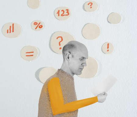 suspicion: man thinking illustration