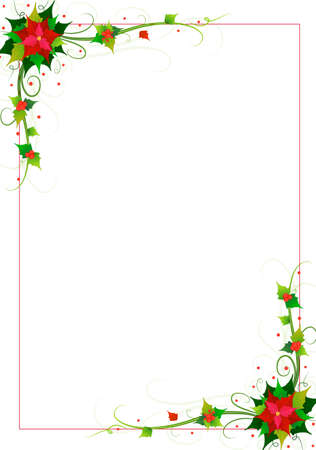 xmas decoration: flowers background vector