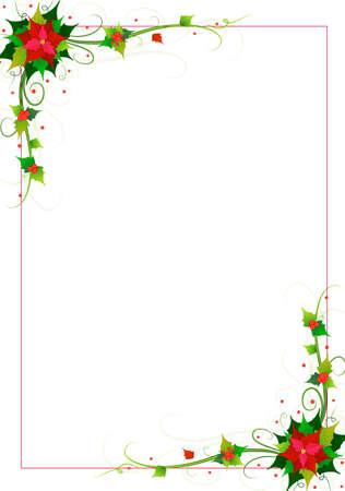 święta bożego narodzenia: kwiatów tle wektora Ilustracja