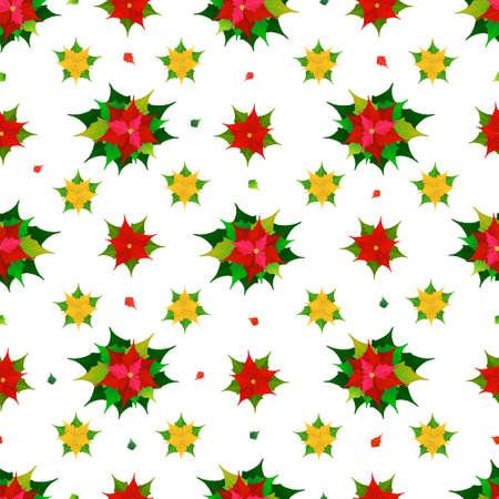 poinsettia: poinsettia flowers seamless