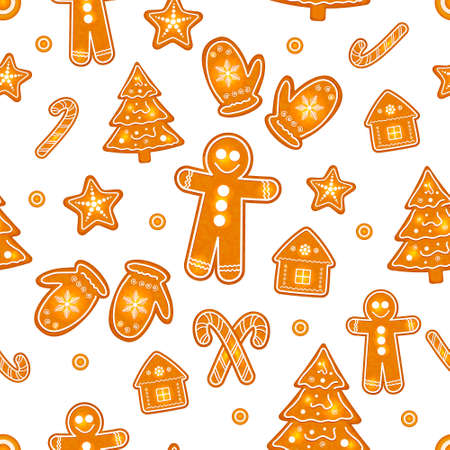 christmas cookies: christmas cookies vector Stock Illustratie