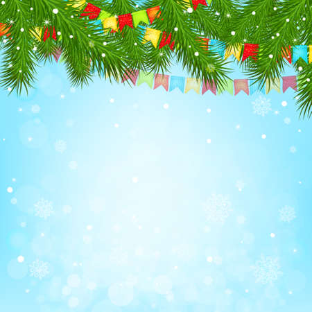 decorated christmas tree: Christmas tree background