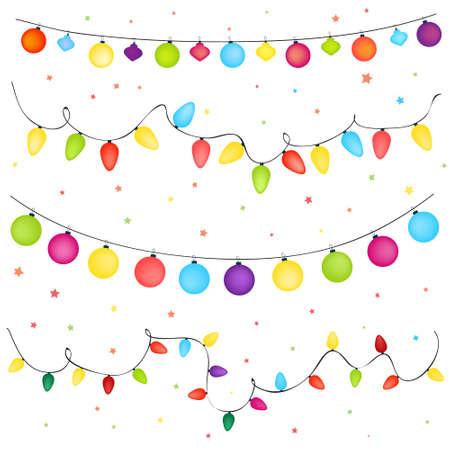 luces navidad: luces de la Navidad de fondo Vectores