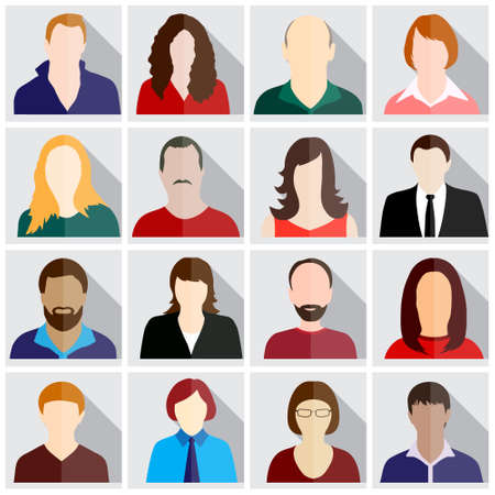 ?  people: personas iconos Vectores