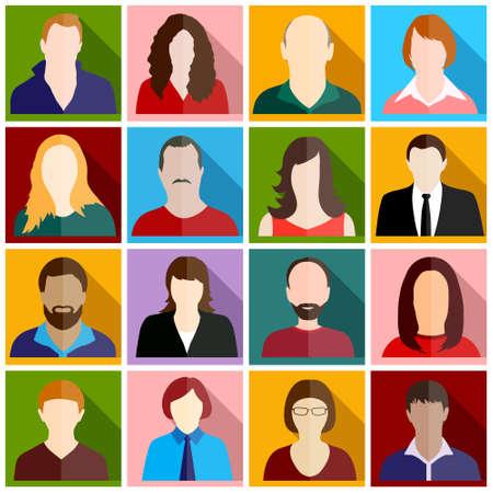 multitude: personas iconos Vectores