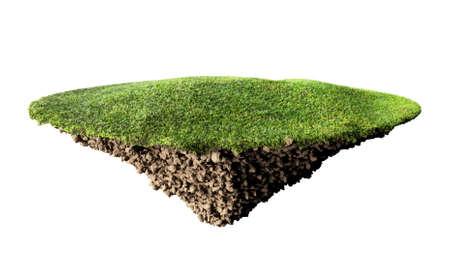 grass island and soil Archivio Fotografico