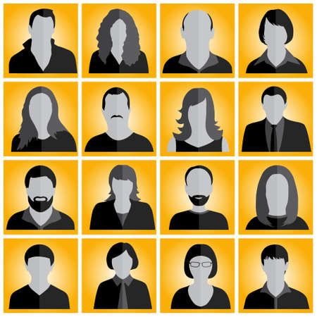 multi ethnic group: people icons vector Illustration