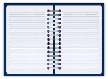 spiral notebook: notebook paper
