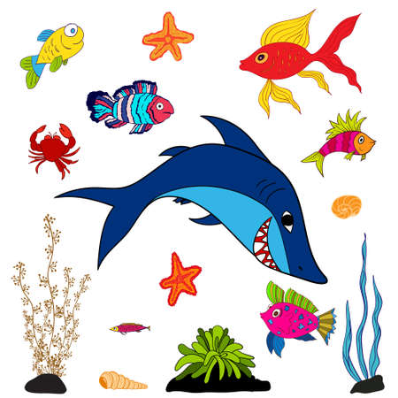 guppy: fishes and sea animals Illustration