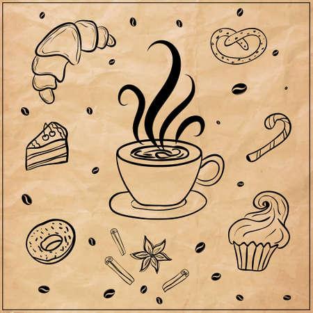 fond caf�: � caf� de fond Illustration