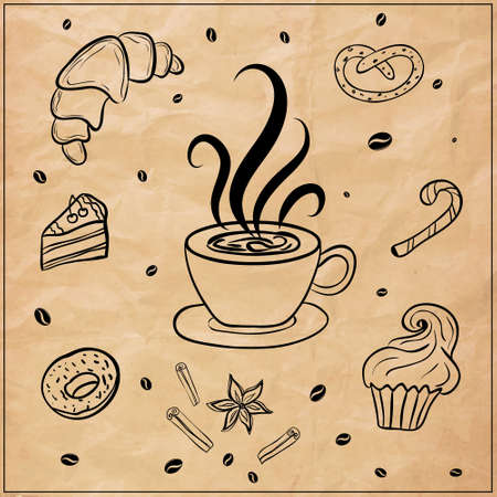 coffee: coffee background Illustration