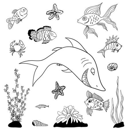 guppy: fishes coloring pages for kids