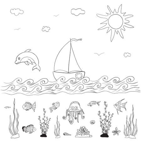 guppy: sea and fishes coloring pages for kids