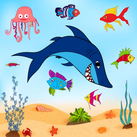 guppy: fishes in sea
