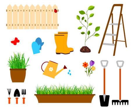 ladder  fence: gardening