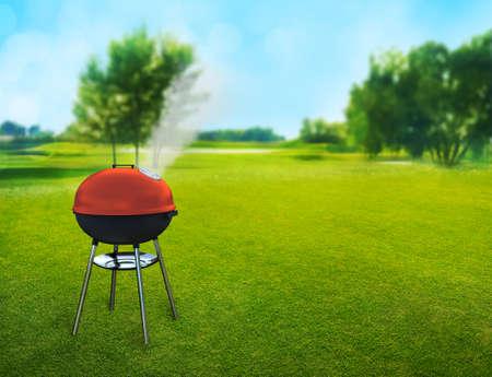 裏庭のバーベキュー ピクニック