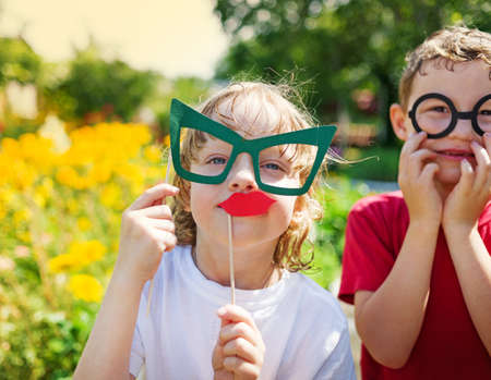children play: children play outdoors Stock Photo