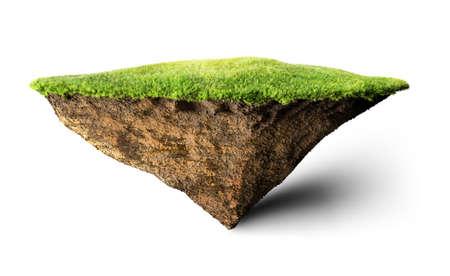 eiland drijvende 3D illustratie Stockfoto