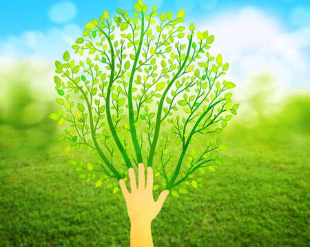 green environment: green concept logo