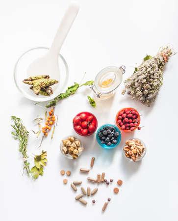 alternative: alternative medicine and herbs Stock Photo