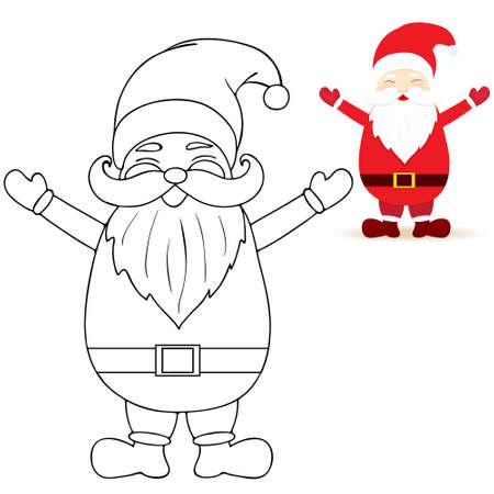 claus: santa claus coloring pages Illustration