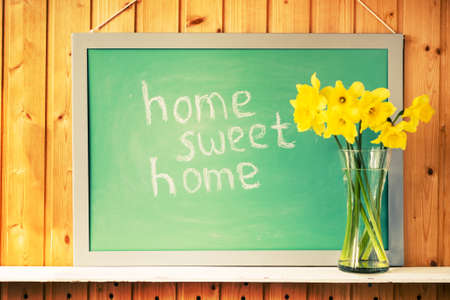 home: home sweet home sign Stock Photo