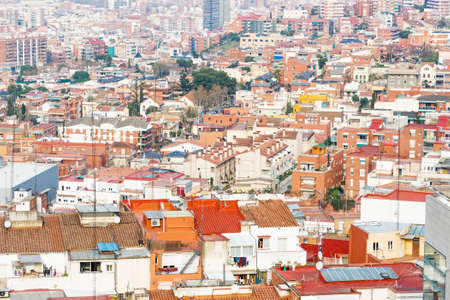 suburbia: Aerial view of Barcelona, Spain