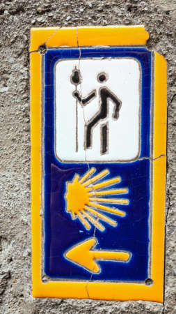 santiago: sign of Camino de santiago