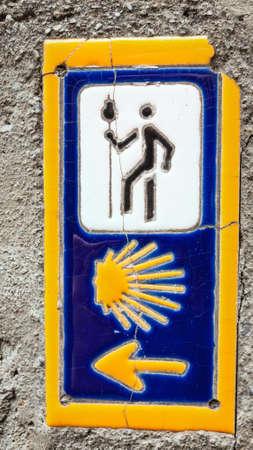 camino: sign of Camino de santiago