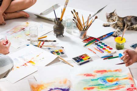 drawing class Stock Photo