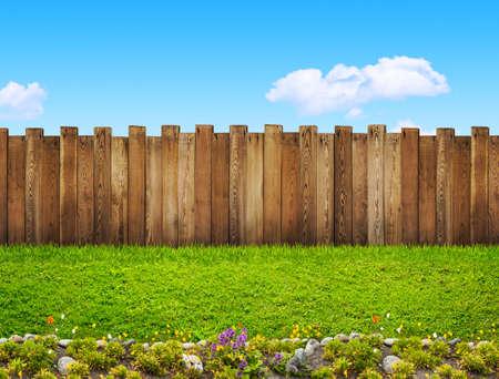庭のフェンス