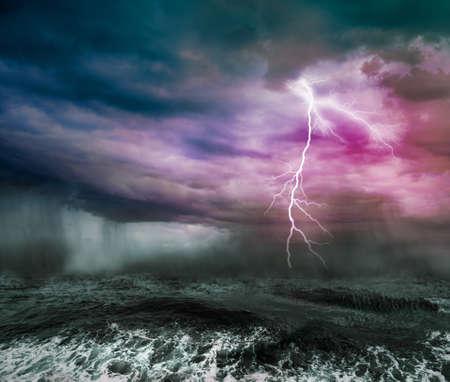 dark skies: stormy ocean Stock Photo