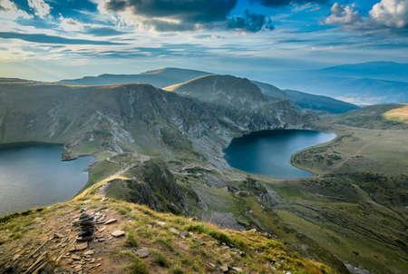 ブルガリアのリラ湖山の風景 写真素材