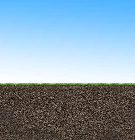 soil: soil texture profile 3D illustration