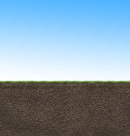 agricultura: textura del suelo ilustración perfil 3D