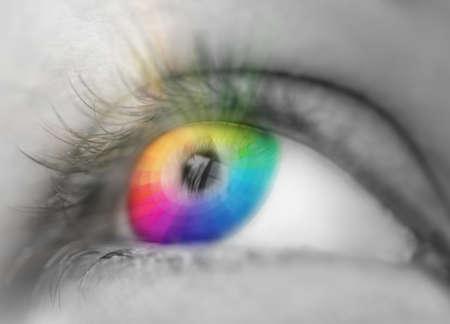 sight: color eye sight concept Stock Photo