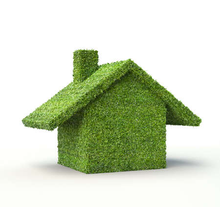 casa hecha de hierba concepto de ahorro de energía verde y el hogar