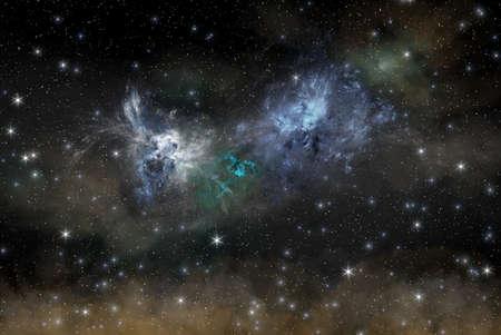 dark skies: night stars sky illustration