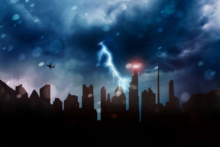 blackout and apocalypse concept Stok Fotoğraf