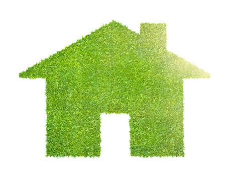 eco house concept made of grass