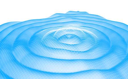 Gravitation waves abstract duotone 3D illustration Stock Photo