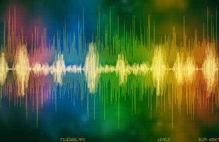 voice recognition waveform and spectrum illustration Archivio Fotografico