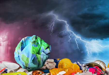 global ocean plastic garbage pollutionon on the planet