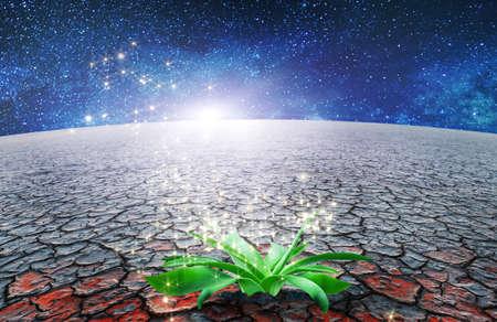 genesis of extraterrestrial life concept illustration