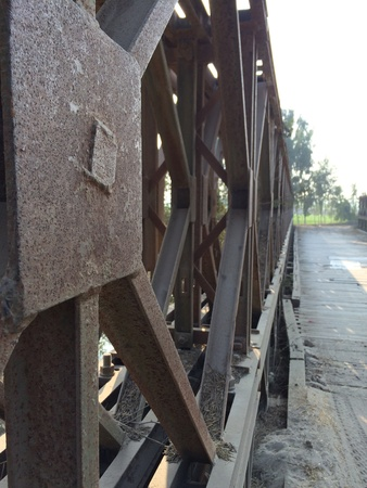 iron: A iron over bridge Stock Photo
