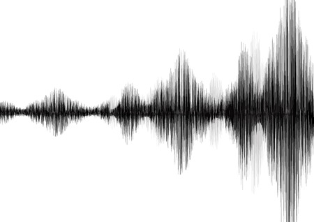 seismograph: Earthquake Wave on White paper background Illustration